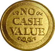 Token - No Cash Value (Eagle looking right; 23 mm; Brass; long teeth on the reverse) – revers