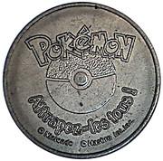 Jeton pokemon # 128 tauros avec sticker – revers