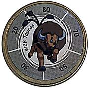 Jeton pokemon # 128 tauros avec sticker – avers