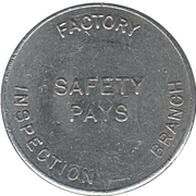 Canadian National Exhibition-Department of Labour (Ontario) Token – revers