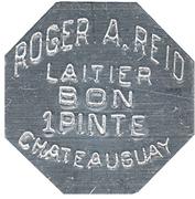 Bon pour 1 pinte-Roger A Reid Laitier (Châteauguay, Québec) – avers