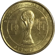 Soccer World Cup 2006 Medals - Paraguay – revers