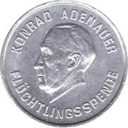 Konrad Adenauer - Flüchtlingsspende (1 mark) – avers