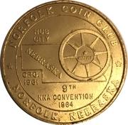 Token-Nebraska Numismatic Association (9th Convention) – revers