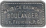 Bon pour 1 pain-Maurice Gaumond, boulanger (St-Félicien, Québec) – avers