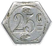 25 centimes - Prison Saint-Lazare - Paris (75) – revers
