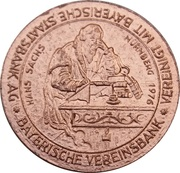 Token - Alt-Nürnberg (Hans Sachs) – avers