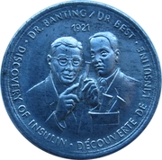 Token - Great Canadian Moments (Discovery of Insulin) – revers