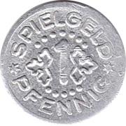 1 Pfennig (Spielgeld) – revers
