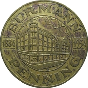 50 Cent - Burmann Penning 1884-1934 – avers