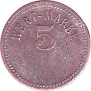 5 Wert-Marke – avers