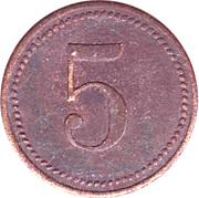 5 Wert-Marke – revers