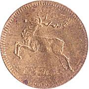 Spiel Marke (Deer and Bull) – avers