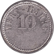 10 Pfennig (Wert-Marke; A.M.L.) – avers