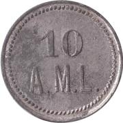 10 Pfennig (Wert-Marke; A.M.L.) – revers