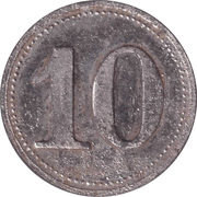 10 Pfennig (Werth-Marke; Zinc; Counterstamped) – revers