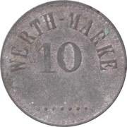 10 Pfennig (Werth-Marke; Zinc; line of dots; high font) – avers