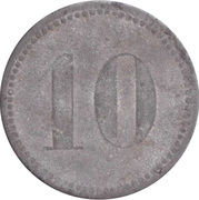 10 Pfennig (Werth-Marke; Zinc; line of dots; high font) – revers