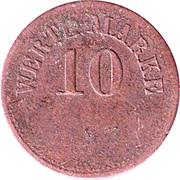 10 Pfennig (Werth-Marke; Copper) – avers