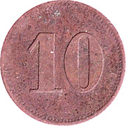 10 Pfennig (Werth-Marke; Copper) – revers