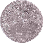 10 Pfennig (Werth-Marke; Zinc; line of dots) – avers