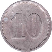 10 Pfennig (Werth-Marke; Zinc; line of dots) – revers