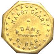 Harry Geary 5¢ Token – avers