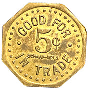 Harry Geary 5¢ Token – revers