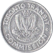 Jeton de métro - Toronto Transit Commission (avec différent) – avers