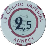 Casino Imperial Annecy (74) - 2,5 euro – revers