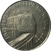 TNT Darling Harbour Monorail token  (Kookaburra) – revers