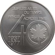 Medal - Inaugural Flight Between Toronto and New York (DC-3) – revers