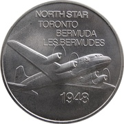 Medal - Inaugural Flight Between Toronto and Bermuda (North Star) – avers