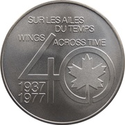 Medal - Inaugural Flight Between St. John's and Edmonton (Lockheed 1011) – revers