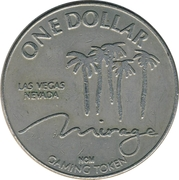 Mirage 1 Dollar Casino Token (Las Vegas) – avers