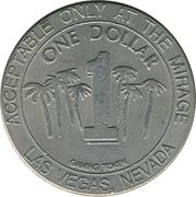 Mirage 1 Dollar Casino Token (Las Vegas) – revers