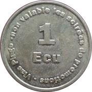 1 ecu Europark - 2ème type  - Vias [34] – revers