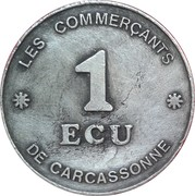 1 ecu de Carcassonne [11] – revers