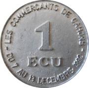 1 écu de Cahors [46] – revers