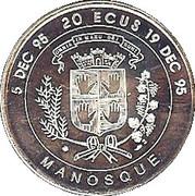 20 écus - Centenaire de la naissance de Jean Giono - Manosque [04] – revers