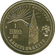 1 euro de Barcelonnette [04] – revers