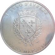 1 euro d'Évreux [27] – revers