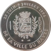 1 euro - Le Havre [76] - PIEFORT – revers