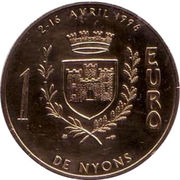 1 euro de Nyons [26] – revers