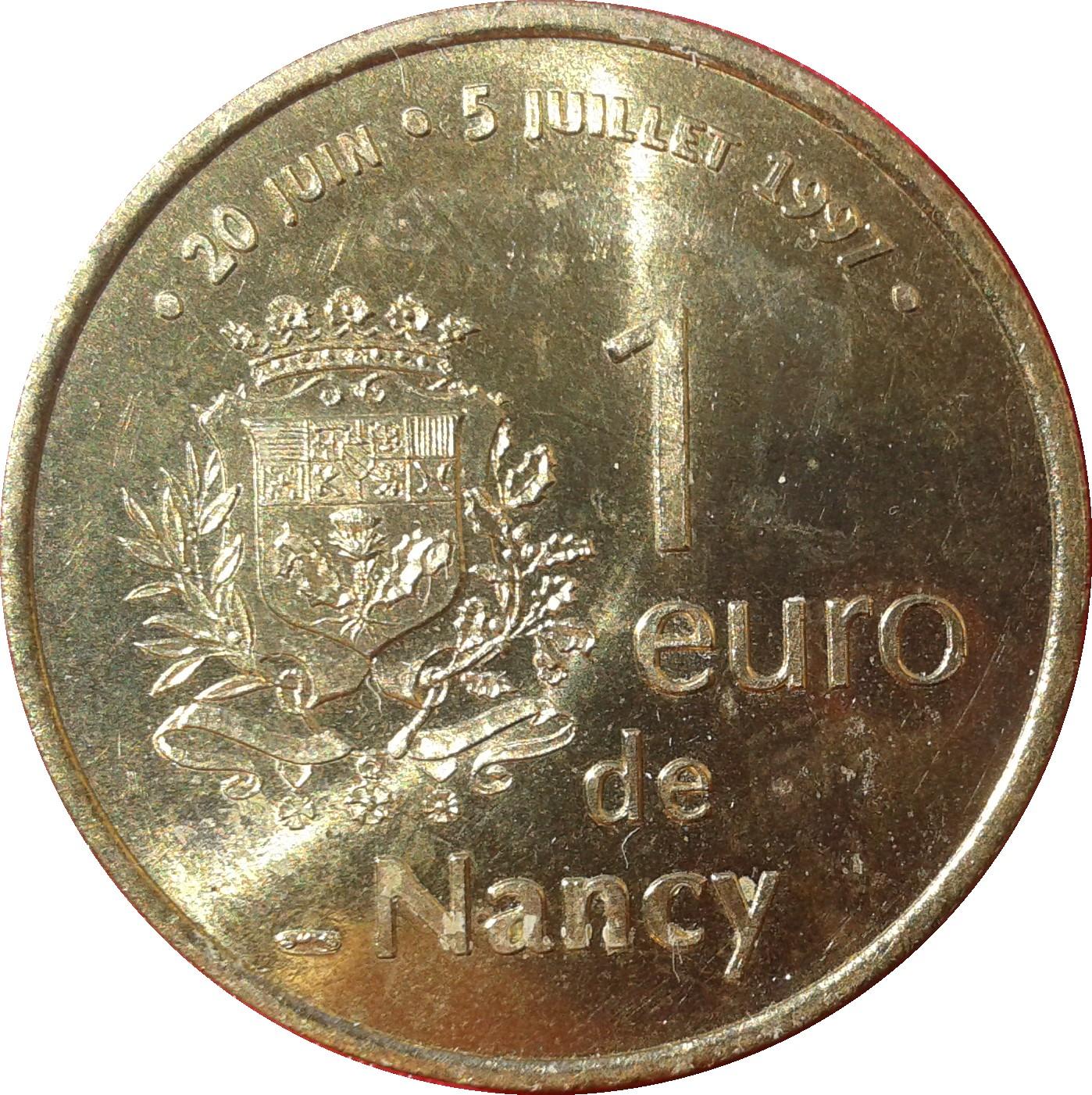 1 euro de nancy 54 jetons numista. Black Bedroom Furniture Sets. Home Design Ideas