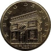 2 euros Pompiers de Paris [75] – revers