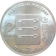 2 euros d'Avignon [84] – revers