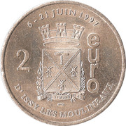 2 euros d'Issy-les-Moulineaux [92] – revers