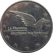 2 euros du département de la Mayenne [53] -  avers