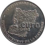 2 euros du département de la Mayenne [53] – revers